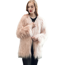 New Winter Coat Womens Fashion Warm Faux Fox Fur Coat Ladies Jacket Parka Outerwear Thick High Quality Solid Femme Casaco Oct26