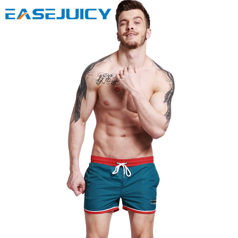 Board     shorts   Men's bathing suit sexy swimsuit joggers hawaiian bemudas briefs beach   shorts   printed loose trunks mesh liner