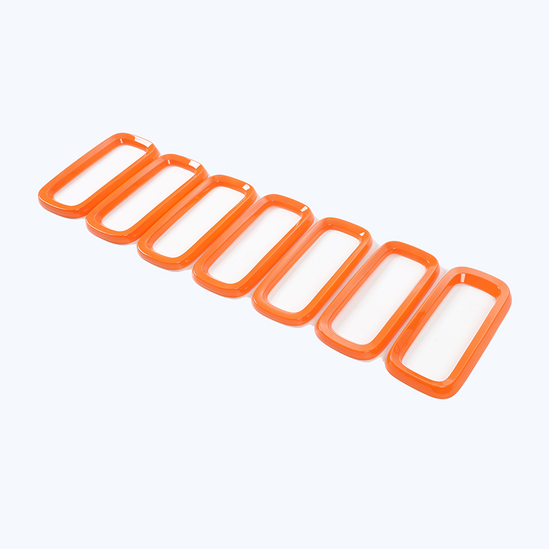 Front Grill Vent Hole Frame Trim Cover Ring For Jeep Renagade 2015-2016 Orange Blue 7 Pcs/1 Set free shipping front center grill grid grille cover trim for 2014 2016 for toyota corolla