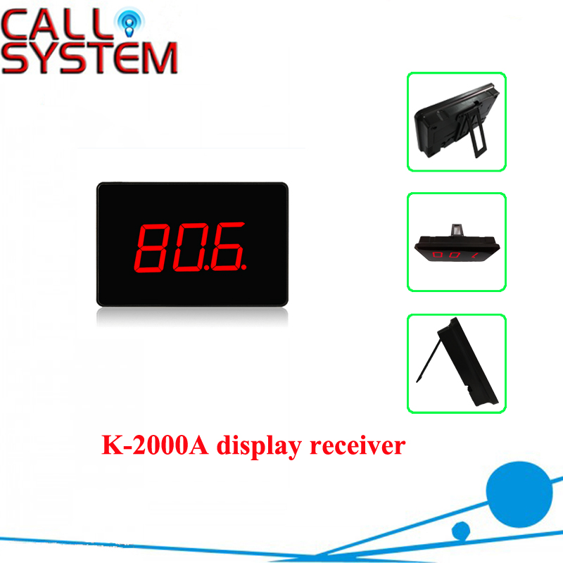433MHz Wireless Waiter Service Queuing Call System Receiver Host K 2000A 3 digit Number-in Pagers from Computer & Office    1