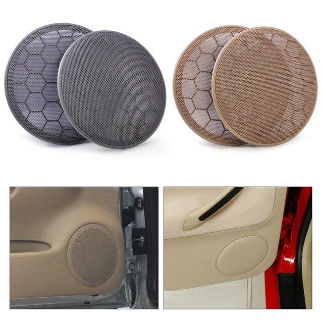 DWCX 2Pcs New Door Loud Speaker Cover Grill 3B0868149 for VW Beetle Passat B5 Jetta MK4 Golf GTI 1999-2001 2002 2003 2004 2005