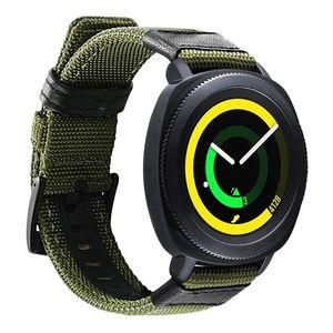 Image 2 - Correa de nailon y cuero para Samsung Gear Sport/Galaxy Watch 42mm/para Garmin Vivoactive 3/Ticwatch 2/E