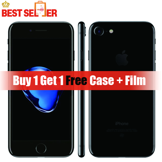 Original Apple iPhone 7 4G LTE Mobile Phone 2GB RAM 32GB/128GB/256GB ROM IOS 12.0MP Camera SIM Free Fingerprint Smartphones