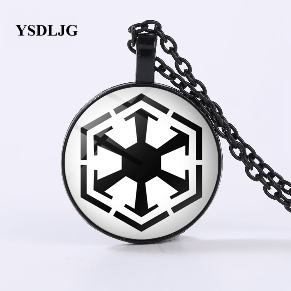 925 Sterling Silver Star Wars Alliance Galactic Empire Jedi Necklace /& Chain