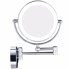 GURUN LED Lights Wall Mounted Magnifying Makeup Mirror Vanity Magnification Cosmetic Shaving Mirror with Concealed Plug, Chrome