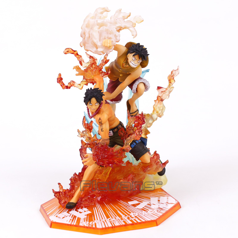 Anime One Piece Figuarts ZERO Luffy Ace Fighting Ver. PVC Figure Collectible Model Toy 15~18cm