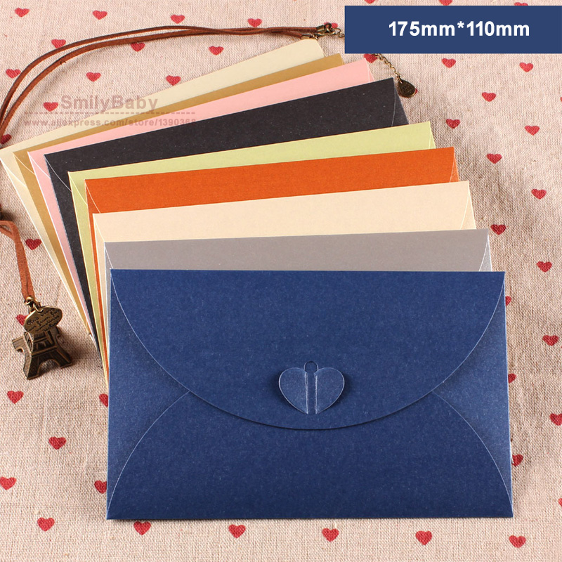 50pcs 175mm*110mm Color Paper Envelope DIY Wedding Invitation ...