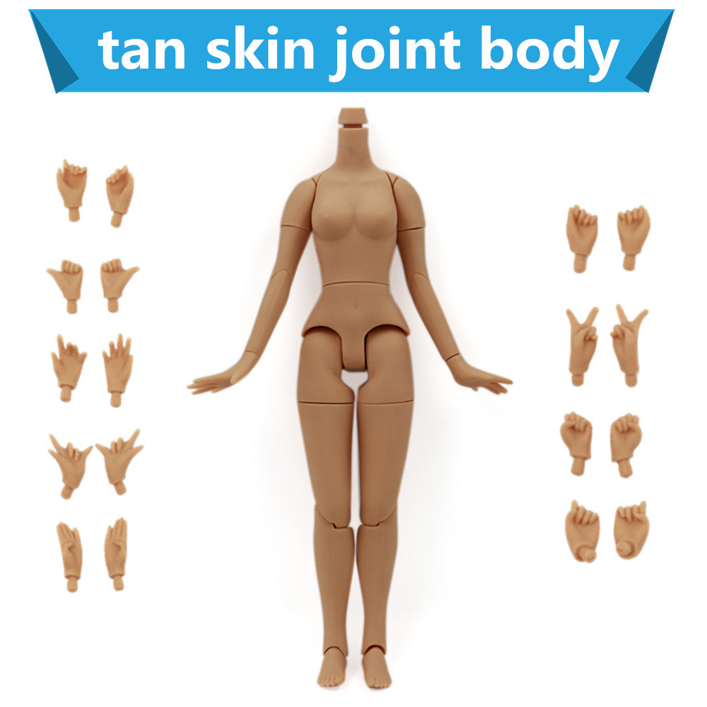Fortune Day 8.5 inch Joint body for blyth doll icy tan skin handset big breast 21