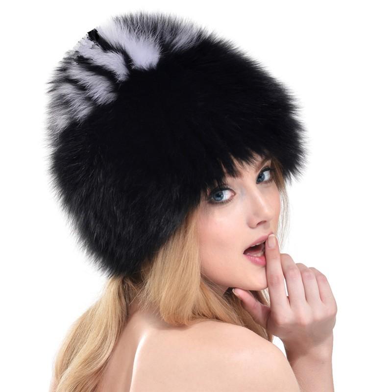 QUEENFUR-Women-Winter-Fox-Fur-Hats-Genuine-Fox-Fur-Knitted-Beanies-2016-New-Design-Russian-Style