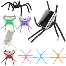 NEW Universal Phone Table Stand Holder Spider Adjustable Grip Car Desk Phone Kickstands Mount Support for iPhone for Samsung
