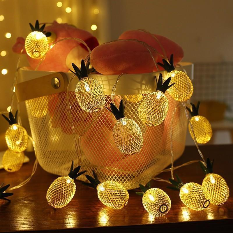 1.5/3m Led Pineapple String Light Ananas Fairy Light Home Bedroom Garden Christmas Wedding Party Decor Light Battery Operate Sales Of Quality Assurance