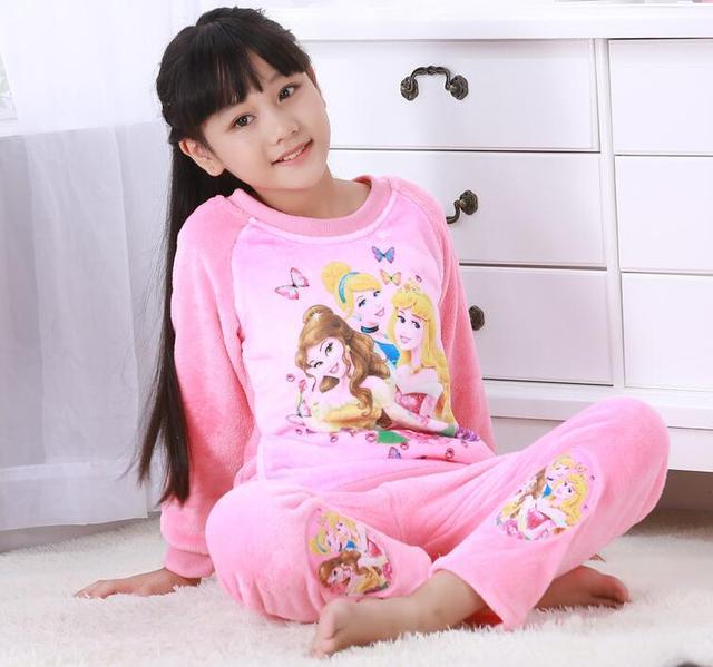 661a7d878021 Cosy Leisure Unisex Kids Winter Flannel Pajamas Children Boy Warm ...