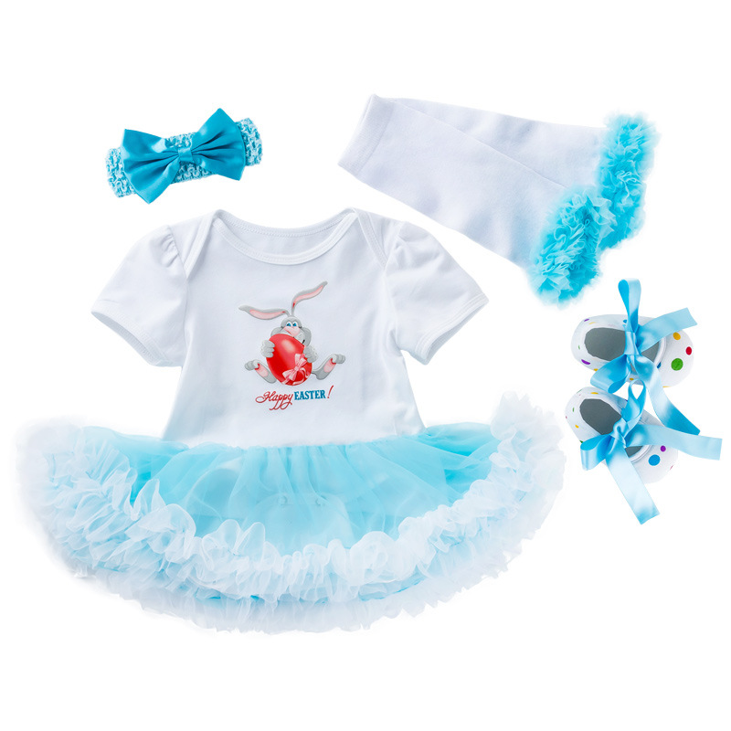 Clothing Sets Easter Infant Baby Girls Festival 4pcs Outfits Tutu Romper Dress Outfits Baby Clothing Set New Born Baby Clothes For Party Wear Girls' Baby Clothing