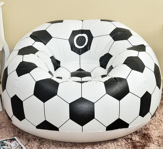 Cadeira do saco de feijão de futebol e de basquete à prova d' água, inflável beanbag cadeira do sofá, ar inflado almofada de feijão, esportes lovesac