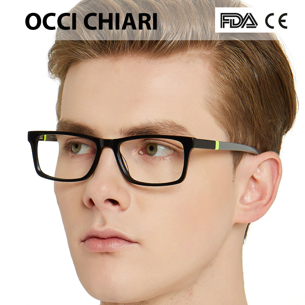 Image 4 - NEW DESIGN Fashion Men Square Metal Frames Optical Glasses Transparent Clear Lens reading Glasses OCCI CHIARI OC7007-in Men's Eyewear Frames from Apparel Accessories