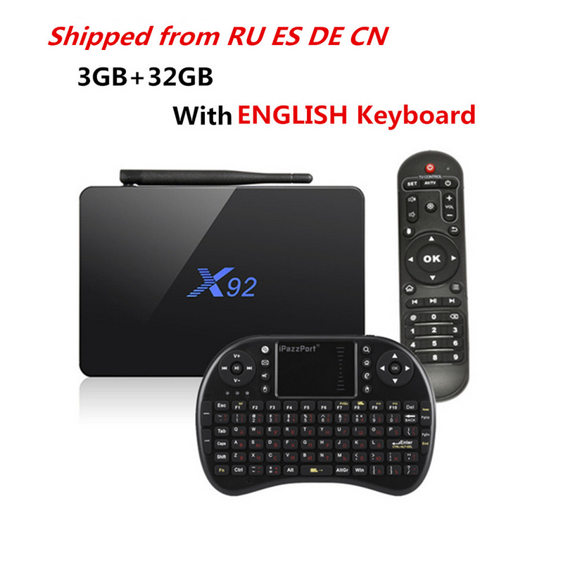 Hot X92 TV Box 3GB 32GB Amlogic S912 Octa-Core 2.4GHz/5.8GHz WiFi HDMI Smart Set Top Box Bluetooth USB 2.0 Smart TV BOX
