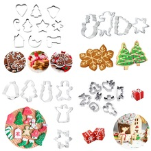 Biscuit Mold Cookie-Cutters Pastry-Decorating Baking-Tools Fondant Candy-Shape Christmas