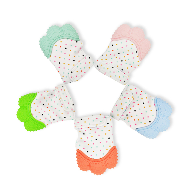 Cotton and Silicone Baby Teething Glove