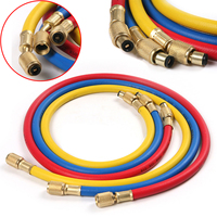 3pcs Durable High Pressure 1 4 Charging Hose Copper Fittings Mayitr For Car Automobile R12 R22