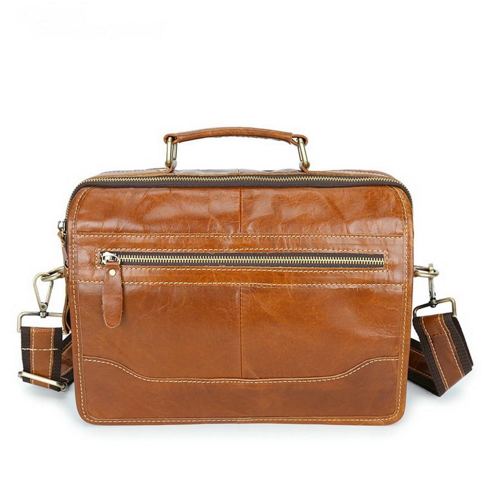 Fashion Men's Genuine leather Briefcases portfolio bags Men executive briefcase leather laptop bag for document цена и фото