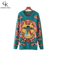 2017 New Fashion Womens Sweater Colorful Ufo Colorful Cloud Pullover Lady Sweater Casual Comfortable Sweater