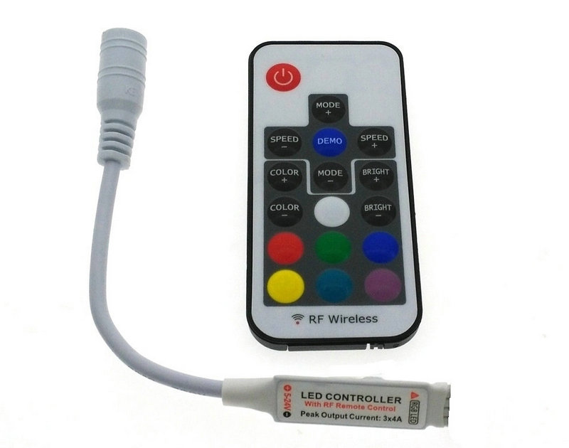 Светодиодные ленты 5050 RGB полосы света 17key rf Беспроводной Ремо контроллер с Мощность адаптер