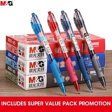 M & G składany długopis żelowy 0.5mm czarny ciemnoniebieski czerwony atrament żelowy wkład do pióra gelpen do szkolnych materiałów biurowych stacjonarne długopisy Andstal