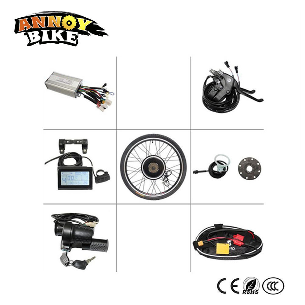 26 28 700C 29 Front Drive Electric Bike Change Kit 36v 500w 48v 500w Electric Bike Conversion Kit With LCD Display pasion e bike 48v 1500w motor electric bike kit electric bicycle conversion kits for 20 24 26 700c 28 29 rear wheel fiets