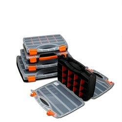 Prático plástico ABS parafuso ferramenta caixa de armazenamento com fecho caixa de acessórios caixa de ferramentas de hardware chave de fenda ferramenta de reparo automático