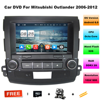 Android 6.0 Octa Core Auto Dvd-speler voor Mitsubishi Outlander 2006-2012 met 2 GB Stereo Auto Radio Audio Hoofd unit Ondersteuning 4G