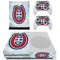 NHL Vinyl Skin Sticker for the Xbox One S Console With Two Wireless Controller Decals-- Montreal Canadiens