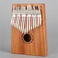 17 Keys Kalimba Mbira Sanza Likembe Thumb Piano Rosewood Fun Gift Lover Traditional African Music Instrucments