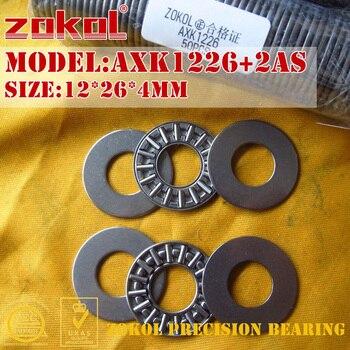 ZOKOL AXK0821 AXK1024 AXK1226 AXK1528 2AS bearing AXK1226+2AS needle roller 8*21*4mm 10*24*4mm 12*26*4mm 15*28*4mm - discount item  32% OFF Hardware