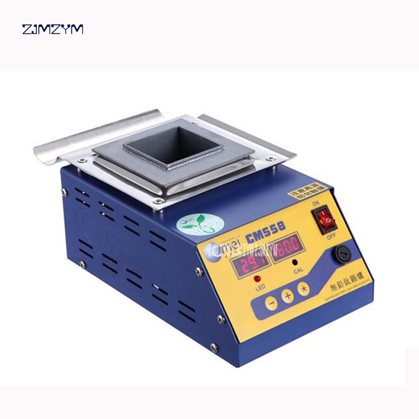 цена на 300w melt tin 1.4KG temperature adjustable Melting tin furnace solder stove Lead-free solder pot CM-558 Digital square tin stove