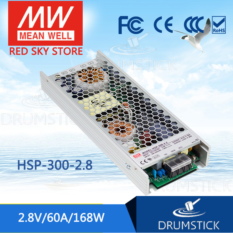 Advantages MEAN WELL HSP-300-2.8 2.8V 60A meanwell HSP-300 2.8V 168W Single Output with PFC Function Power Supply hsp 94123p
