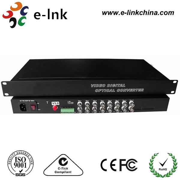 16Ch CCTV Analog Video Optic Converter