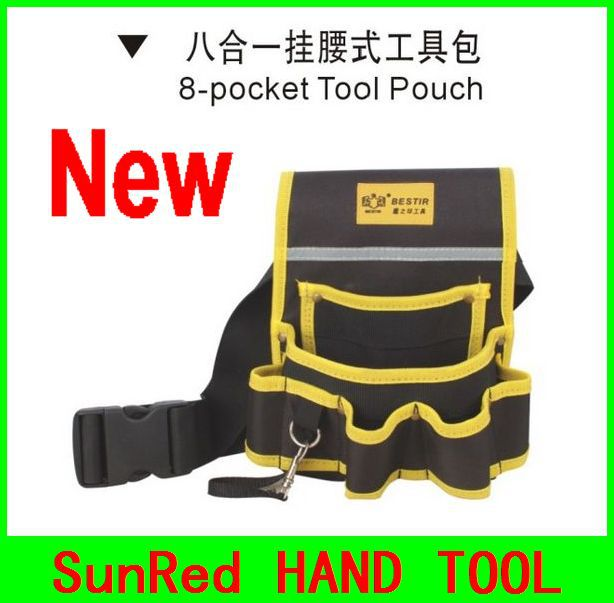 Hearty Bestir Taiwan Brand New Design Oxford Complex Material Convenience 9pockets Waist Tool Pouch With Belt No.05156 Luxuriant In Design Tool Parts