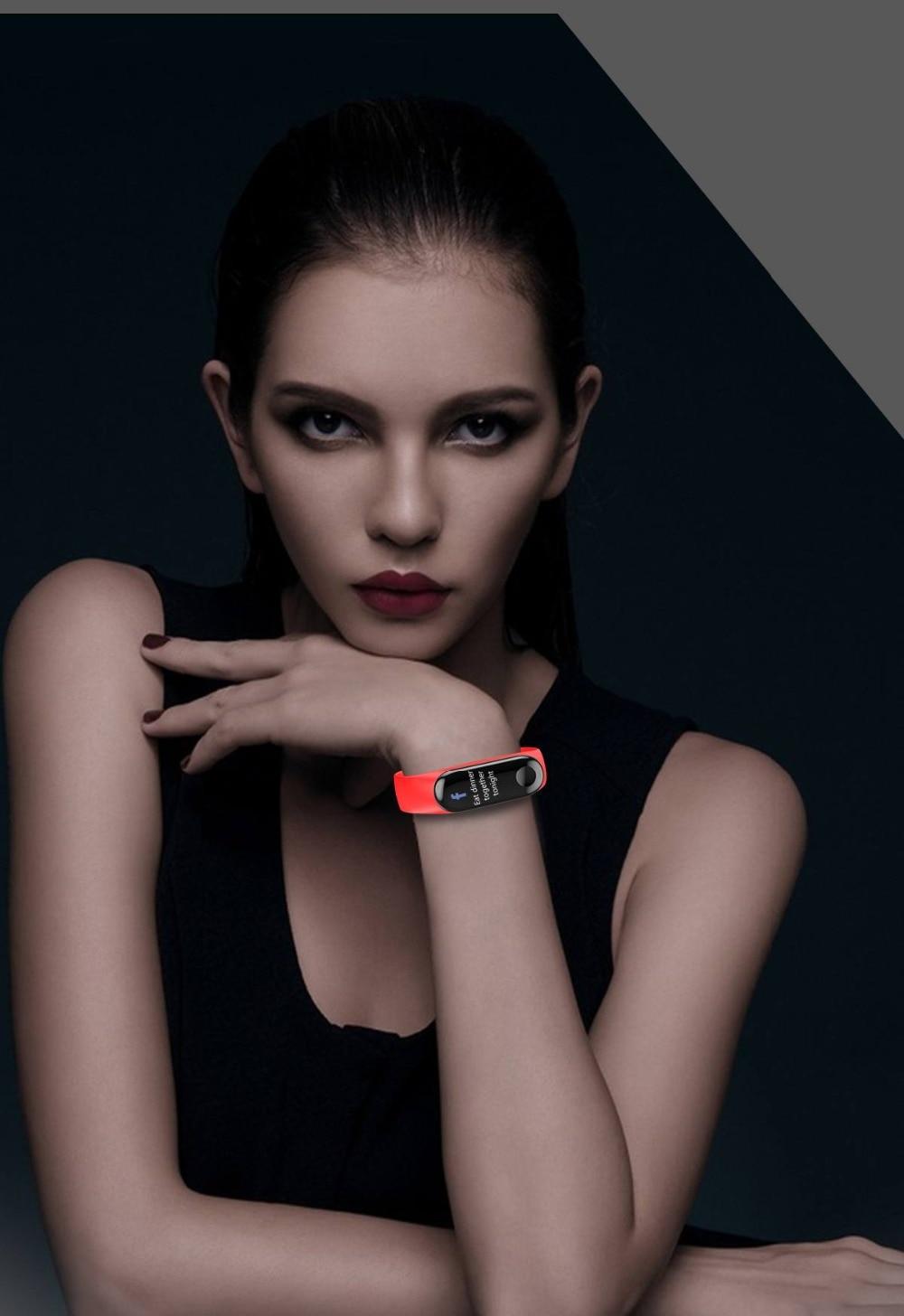 Torntisc W3 Fitness Bracelet Color-screen IP68 Waterproof blood pressure Oxygen Monitor sport Heart Rate Smart band pk mi band 3 (4)