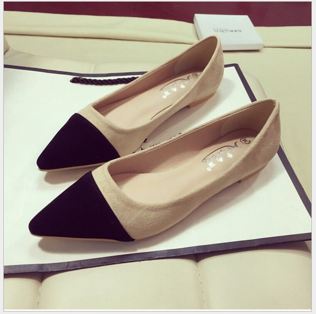 New Women Casual Pointed Toe Loafers Flats Ballet Ballerina Flat Shoes Plus size 34-41