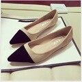 Novas Mulheres Casuais Dedo Apontado Loafers Flats Ballerina Ballet Flat Shoes Plus Size 34-41