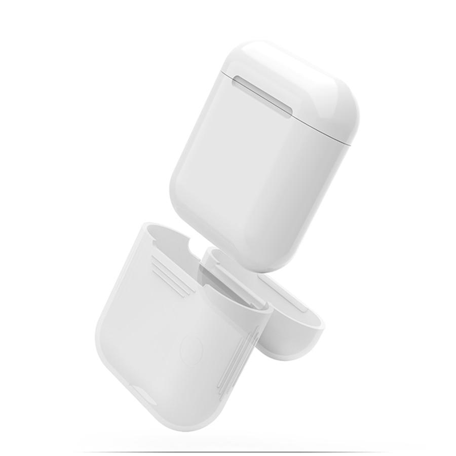 Apple AirPods için Mavi Silikon Kılıf Şok Geçirmez Koruyucu - Taşınabilir Ses ve Görüntü - Fotoğraf 5