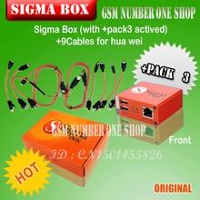 Nouvelle boîte dorigine sigma avec 9 câbles avec activation pack3 pour huawei