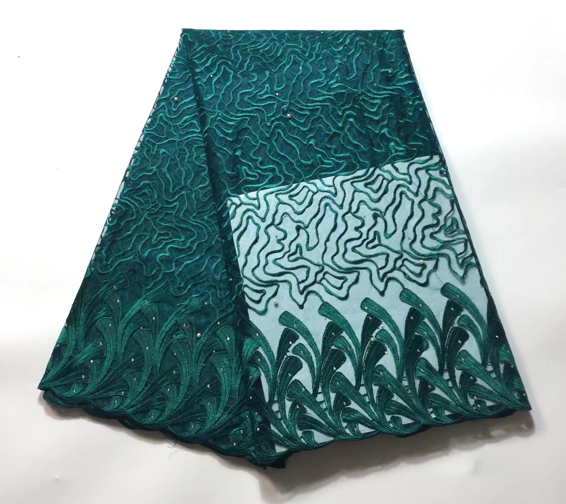 Cheap Crafts & Sewing-African Lace Solid Pattern 120 Cm Width Fabric For Apparel And Fashion Sold By The 5Yard Cheap Crafts