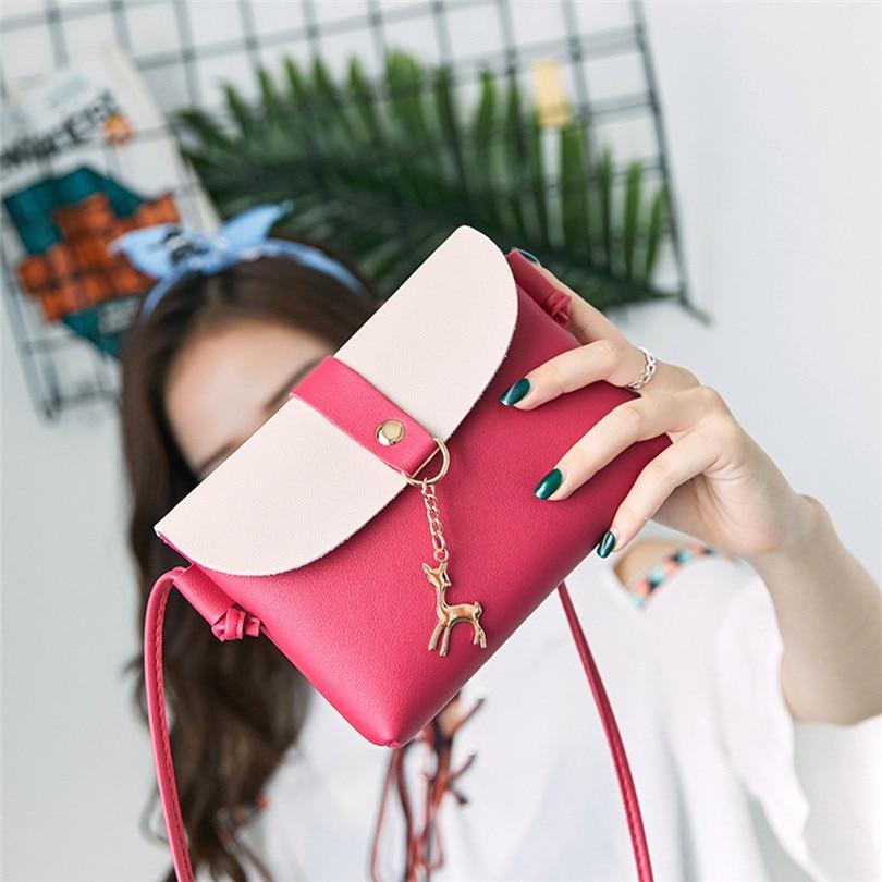 Women Shoulder Bag 2020 Women Fashion Cover Deer Crossbody Bag Shoulder Bag Phone Bag Coin Bag sac bandouliere femme A50