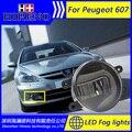 Super White LED Luzes Diurnas Para Peugeot 607 Barra de Luz Drl Estacionamento Luzes de Nevoeiro Carro 12 V DC Cabeça lâmpada