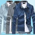 free shipping plus size New design high quality long sleeve men casual denim shirt new model shirts