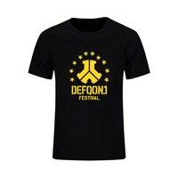 Defqon 1 Pure Cotton Design T Shirt Men Summer Custom T Shirts Hip Hop Mens Short