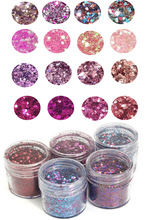 4 Boxes Chunky Mixed Glitter Acrylic Gel Nail Art for Face Body Eye Shadow Festival Tattoo Cosmetic Mix acrylic/gel