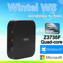 DHL FREE Wlntel W8 Mini PC TV Box with windows8 8.1 OS lntel Quad Core 1.33GHz CPU 2G+32G smart tv box beter than Android tv box