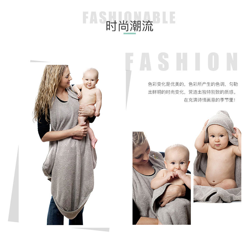 90CM*90CM Combed Cotton Baby Bath Towel Hooded Apron High Quality Towel Absorbent Kids Hooded Wipes Bath Towel
